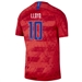 Nike USWNT 'LLOYD 10' Men's 2019 Away Stadium 4-Star Jersey (Speed Red/Bright Blue)