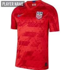 Nike USA Men's 2019 Away Stadium Jersey (Speed Red/Bright Blue)
