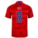 Nike USA 'ERTZ 8' Men's 2019 Away Stadium Jersey (Speed Red/Bright Blue)