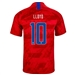 Nike USA 'LLOYD 10' Men's 2019 Away Stadium Jersey (Speed Red/Bright Blue)