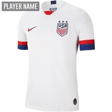 Nike USWNT Men's 2019 Home Stadium Jersey (White/Blue Void/University Red)