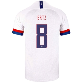 Nike USA 'ERTZ 8' Men's 2019 Home Stadium Jersey (White/Blue Void/University Red)