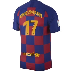 Nike FC Barcelona 'GRIEZMANN 17' Home Vapor Match Jersey '19-'20 (Deep Royal Blue/Varsity Maize)
