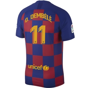 Nike FC Barcelona 'O. DEMBELE 11' Home Vapor Match Jersey '19-'20 (Deep Royal Blue/Varsity Maize)