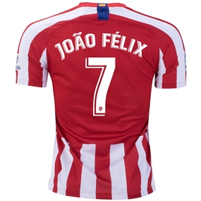 Nike Atletico Madrid 'JOAO FELIX 7' Home Stadium Jersey '19-'20 (Sport Red/White/Deep Royal Blue)