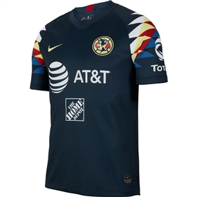 Nike Club America Away Stadium Jersey '19-'20 (Armory Navy/Gym Red/Lemon Chiffon)
