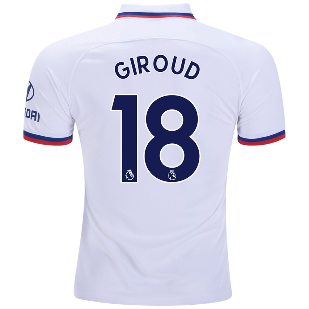 quality design 2c424 89c39 Nike Chelsea 'GIROUD 18' Away Stadium Jersey '19-'20 (White/Rush Blue)
