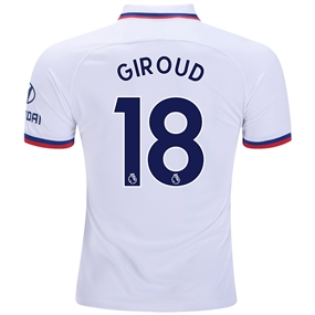 Nike Chelsea 'GIROUD 18' Away Stadium Jersey '19-'20 (White/Rush Blue)