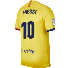 Nike FC Barcelona 'MESSI 10' Away Stadium Jersey '19-'20 (Varsity Maize)