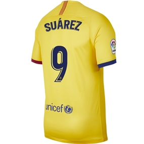 Nike FC Barcelona 'SUAREZ 9' Away Stadium Jersey '19-'20 (Varsity Maize)