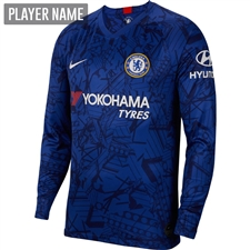 Nike Chelsea Home Long Sleeve Stadium Jersey '19-'20 (Rush Blue/White)