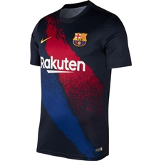 Nike FC Barcelona Training Jersey (Dark Obsidian/Varsity Maize)