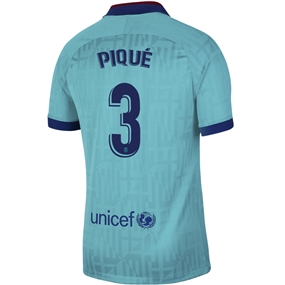 Nike FC Barcelona 'PIQUE 3' Third Stadium Jersey '19-'20 (Cabana/Deep Royal Blue)