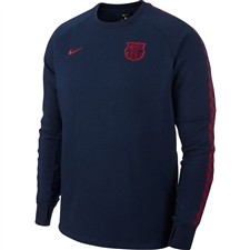 Nike FC Barcelona Fleece Crewneck Sweatshirt (Obsidian/Noble Red)