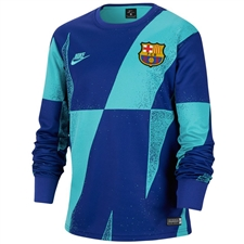 Nike FC Barcelona Long Sleeve Pre-Match Top '19-'20 (Cabana/Deep Royal Blue)