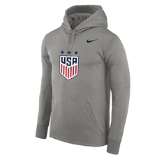 Nike USA Therma Pullover Hoodie (Dark Heather)