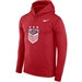 Nike USA Therma Pullover Hoodie (University Red)