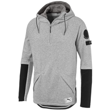 Puma ftblNXT Casuals Hoody (Light Grey Heather/Charcoal Grey)