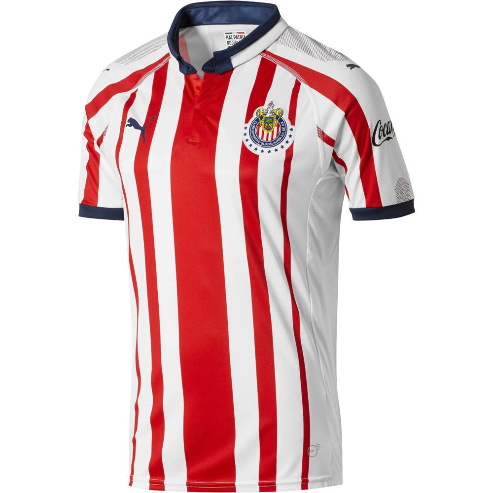 e7559a842 Puma Chivas Home Replica Jersey  18- 19 (White Red New Navy)