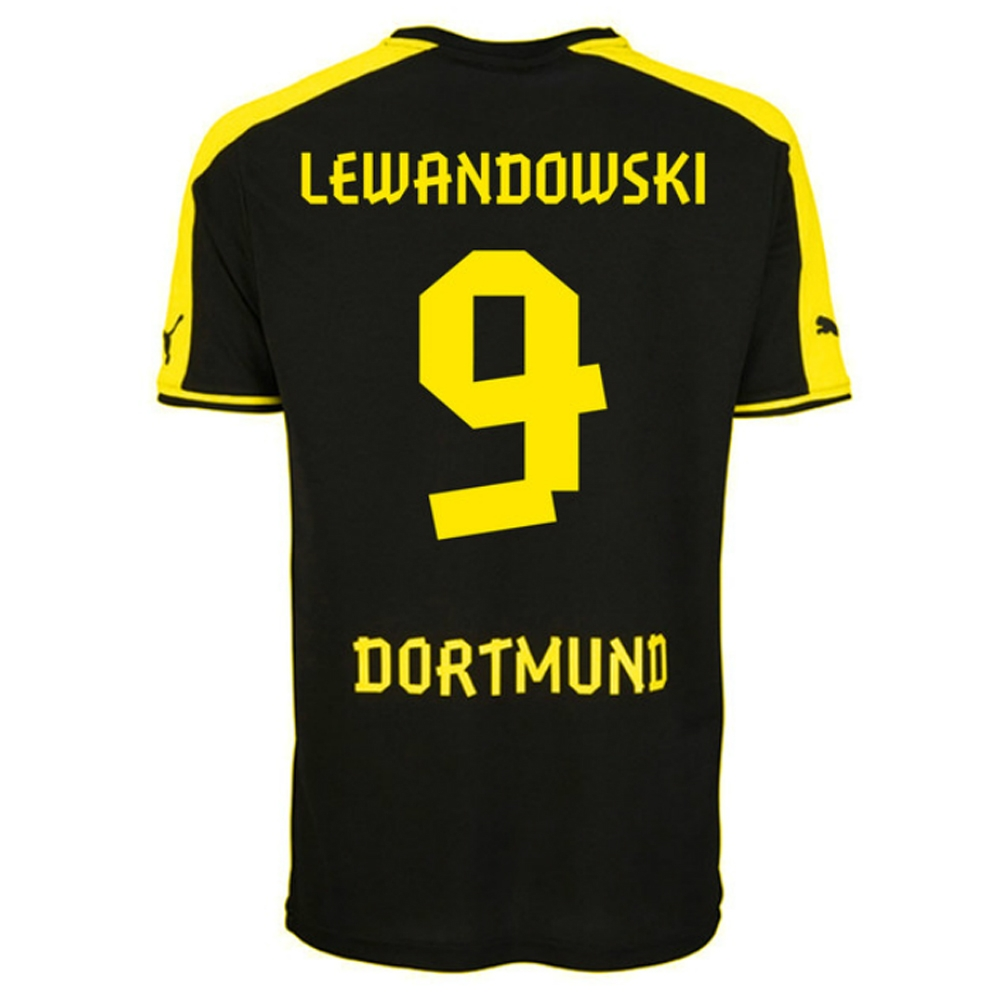 purchase cheap 464a2 4c605 Puma Borussia Dortmund 'LEWANDOWSKI 9' Away '13-'14 Replica Soccer Jersey  (Yellow/Black)