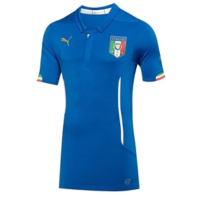 Puma Italy ACTV Home 2014 Authentic Soccer Jersey (Team Power Blue)