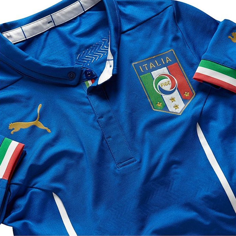 low priced cb05b 5f6b9 Puma Italy ACTV Home 2014 Authentic Soccer Jersey (Team Power Blue)