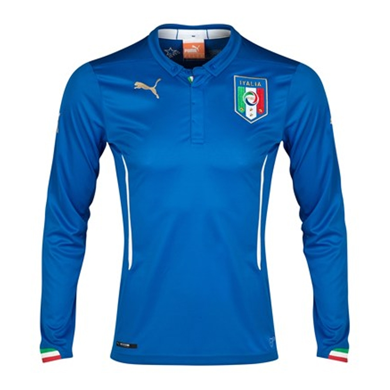 SALE  74.95 - Puma Italy Home 2014 Long Sleeve Replica Soccer Jersey (Team  Power Blue)  86d7488f3