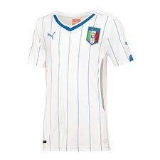 Puma Italy Away 2014 Replica Soccer Jersey (White/Blue)