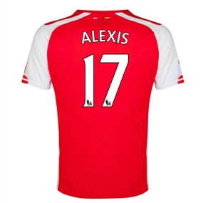 Puma Arsenal 'ALEXIS 17' Home '14-'15 Replica Soccer Jersey (High Risk Red/White)