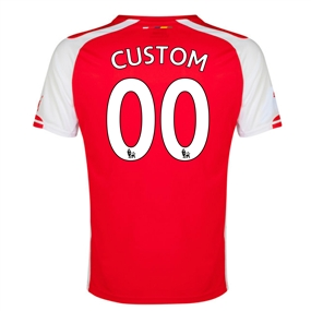 Puma Arsenal 'CUSTOM' Home '14-'15 Replica Soccer Jersey (High Risk Red/White)
