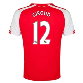 Puma Arsenal 'GIROUD 12' Home '14-'15 Replica Soccer Jersey (High Risk Red/White)