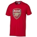 Puma Arsenal Crest Fan T-Shirt (High Risk Red)