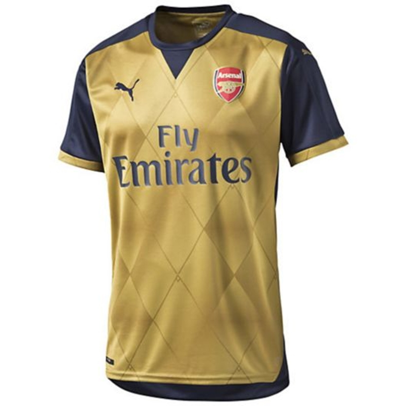 b5e6ad44a Arsenal Away '15-'16 Replica Soccer Jersey (Black Iris/Victory Gold ...