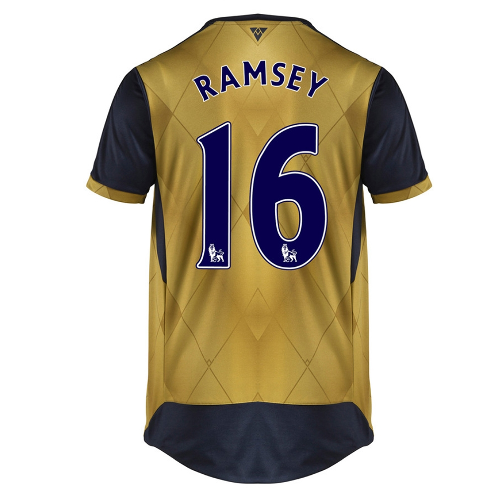 separation shoes ae289 5e7e6 Puma Arsenal 'RAMSEY 16' Away '15-'16 Replica Soccer Jersey (Black  Iris/Victory Gold)