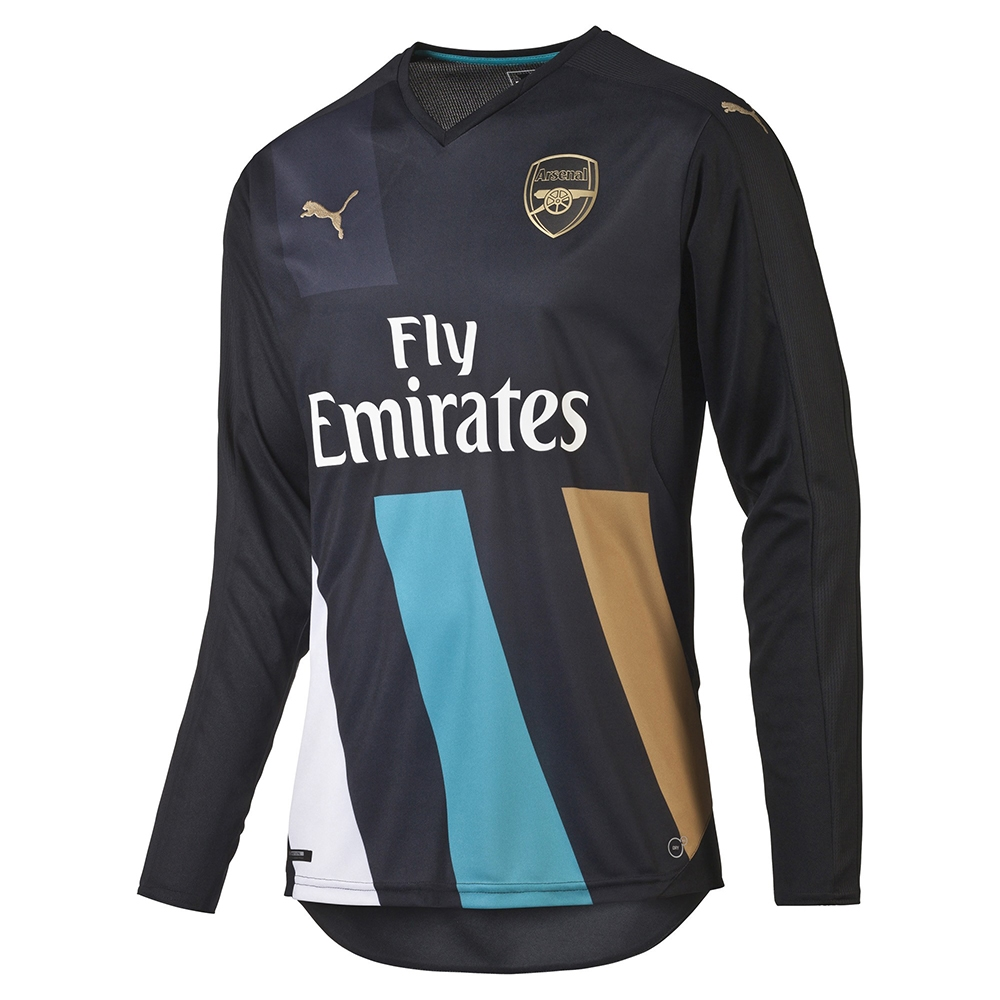 Puma Arsenal Third  15- 16 Long Sleeve Replica Soccer Jersey ... ce29f153d