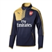 Puma Arsenal 1/4 Zip Training Top (Black Iris/Victory Gold)