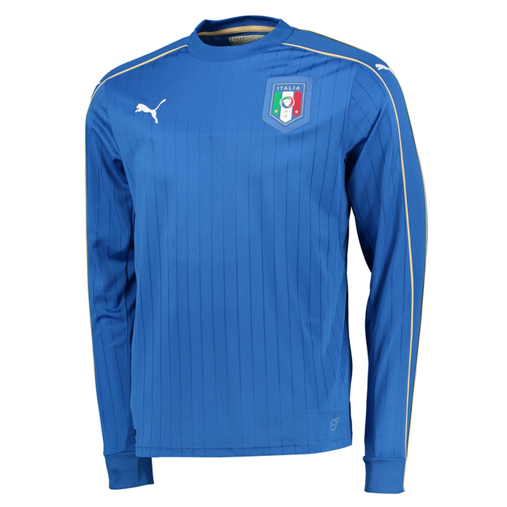 50d3194c87c9 Puma Italy Home 2015-16 Long Sleeve Soccer Jersey (Team Power Blue White