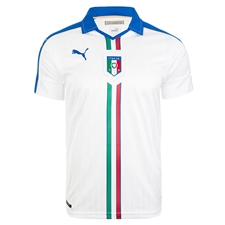 Puma Italy Away 2015-16 Replica Soccer Jersey (White/Team Power Blue)