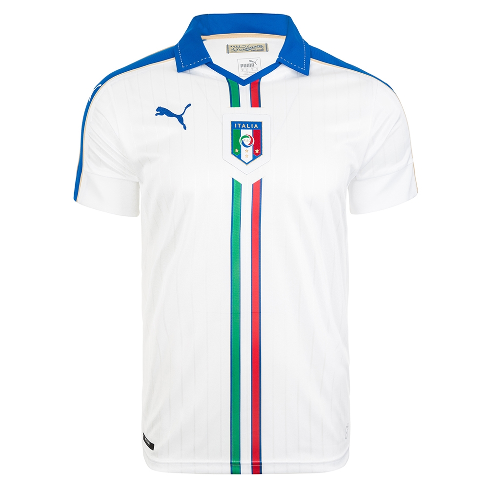 6c13e1fdd8d4  80.99 - Puma FIGC Italy Away 2015-16 Replica Soccer Jersey (White Team  Power Blue)