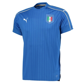 Puma Italy Home 2015-16 Replica Soccer Jersey (Team Power Blue/White)