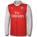 Puma Arsenal Home '16-'17 Replica Long-Sleeve Soccer Jersey (High Risk Red/White)