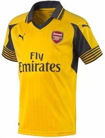 Puma Arsenal Away '16-'17 Replica Soccer Jersey (Spectra Yellow/Ebony)