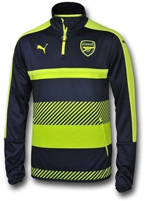 Puma Arsenal 1/4 Zip Training Top (Peacoat/Safety Yellow)