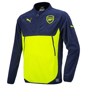 Puma Arsenal Training Fleece (Peacoat/Safety Yellow)