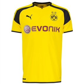 Puma Borussia Dortmund '16-'17 International Home Soccer Jersey (Cyber Yellow/Black)