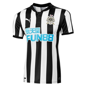 Puma Newcastle United '17-'18 Home Soccer Jersey (Black/White)