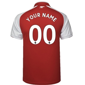 Puma Arsenal 'CUSTOM' Home '17-'18 Replica Soccer Jersey (Red/White)