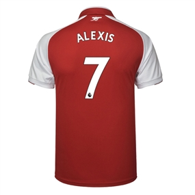 Puma Arsenal 'ALEXIS 7' Home '17-'18 Replica Soccer Jersey (Red/White)