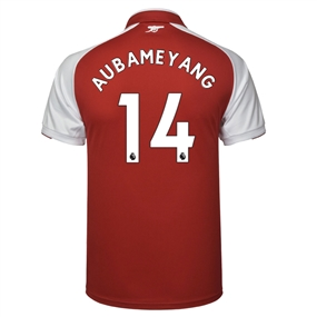 Puma Arsenal 'AUBAMEYANG 14' Home '17-'18 Replica Soccer Jersey (Red/White)