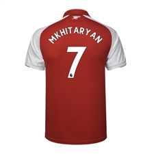 Puma Arsenal 'MKHITARYAN 7' Home '17-'18 Replica Soccer Jersey (Red/White)